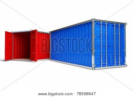Red And Blue Container