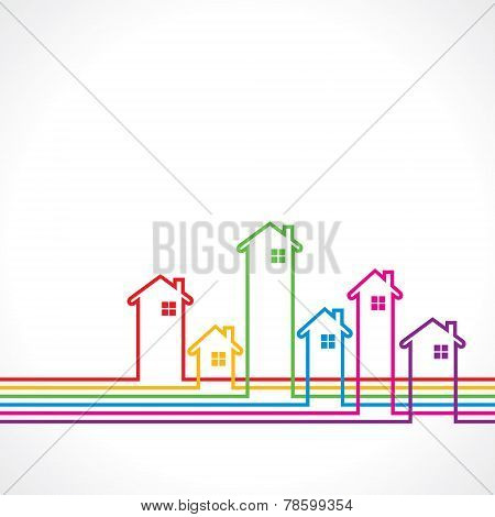 Real Estate bakground for sale property concept stock vector