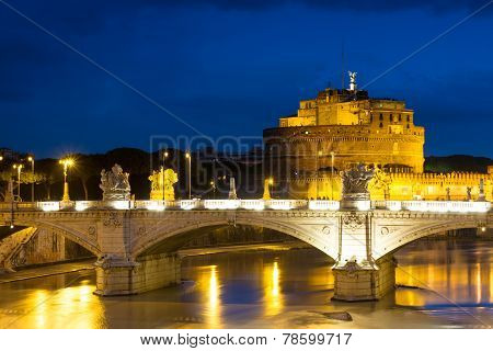 Castel Sant'angelo At Dusk