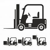 foto of forklift  - Forklift truck icon as a symbol of forklift truck - JPG