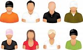 image of people icon  - Set Of Different People Icons - JPG