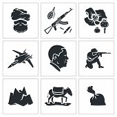 stock photo of smuggling  - Vector Isolated Flat Icons Set on a white background - JPG