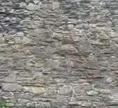 Section Of A Large European Medieval Stone Wall poster