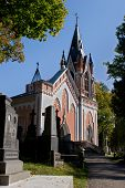 foto of cemetery  - Chapel in Rasos Cemetery the oldest and most famous cemetery in the city of Vilnius Lithuania - JPG