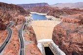stock photo of hydroelectric power  - Hoover Dam in United States - JPG