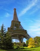 stock photo of arch foot  - Park at the foot of the Eiffel Tower - JPG