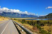 stock photo of mountain chain  - Patagonia - JPG