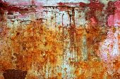 Rusty Weathered Painted Iron Aged Metal poster