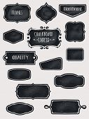 stock photo of oval  - Chalkboard Frames and Labels  - JPG