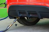 stock photo of fill  - Car fill up LPG at gas station - JPG