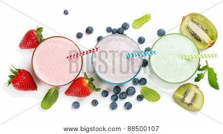 Berry Smoothie, View From Above