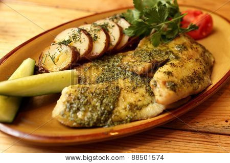 Fried Fillet Of Sea Bass