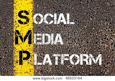 Social Media Acronym Smp As Social Media Platform