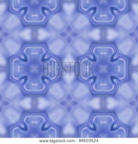 Seamless Kaleidoscope Texture Or Pattern In Blue 1