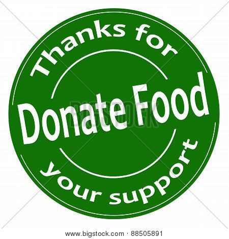 Donate Food-label