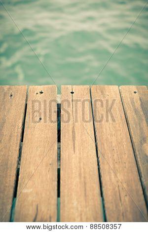 Wooden Pier Backgound