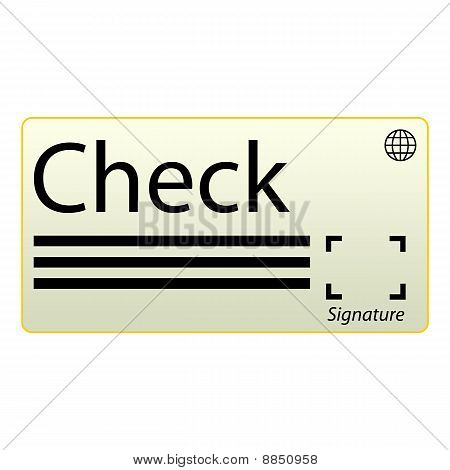 Cheque blanco icono
