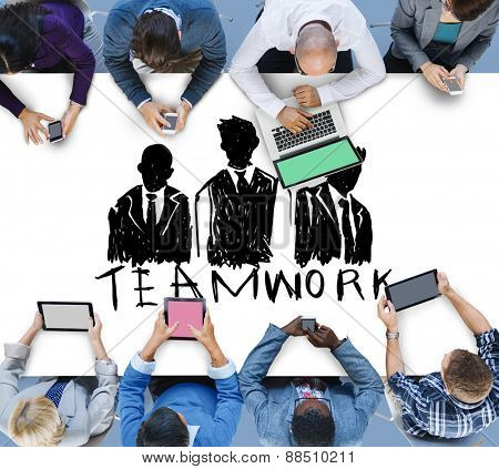 Teamwork Group Collaboration Organization Concept