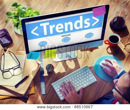 New Trends Future Business Growing Concept