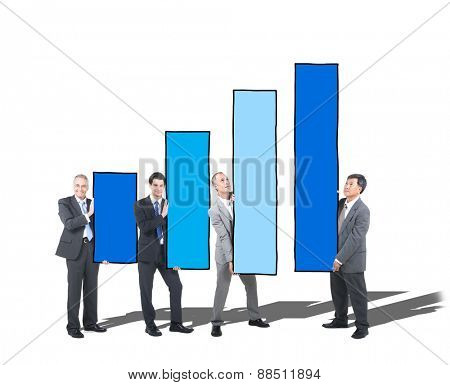 Growth Chart Business People Team Teamwork Coworker Concept