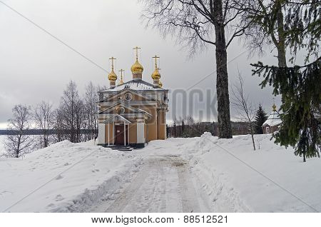 All Saints Church In Orthodox Monastery.