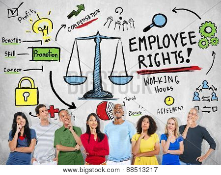 Employee Rights Employment Equality Job People Thinking Concept