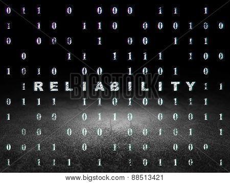 Finance concept: Reliability in grunge dark room