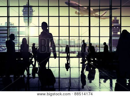 International Airport Communter Passenger Traveling Concept