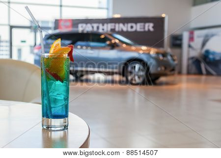 Presentation Of The New Car Pathfinder In The Office Of Official Dealer