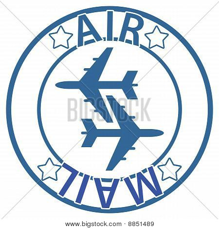 Air Mail Seal - blue color