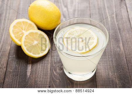 Freshly Squeezed Lemon Juice In Glass.