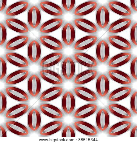Seamless Abstract Clean Simple Texture Or Background With Modern Red Oval Pattern