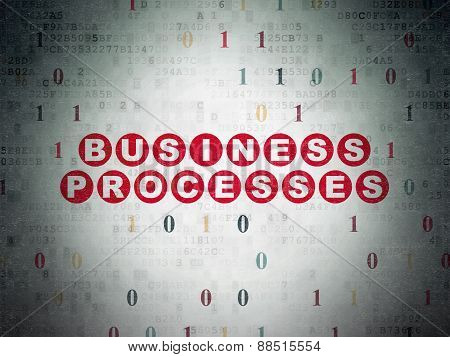 Finance concept: Business Processes on digital background