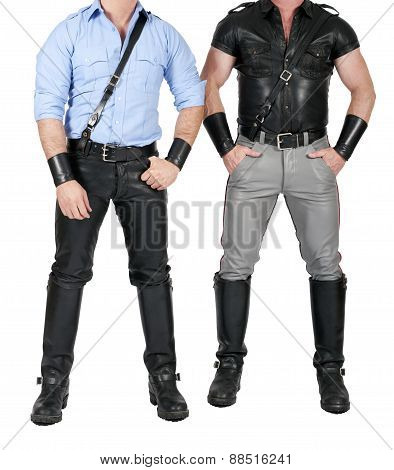 Two Men In Fetish Gear