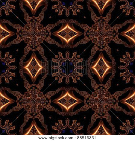 Abstract Celtic Metallic Bronze Pattern Made Seamless