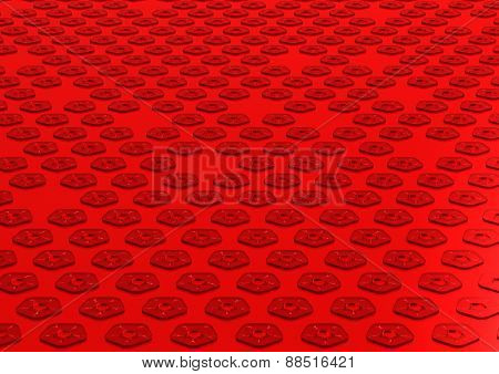 Red Pentagon Structure Background