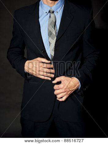 Male Torso In A Suit