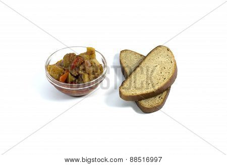 Light Vegetable Meal With Bread