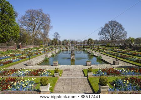 The Sunken Garden At Kensington Palace In London
