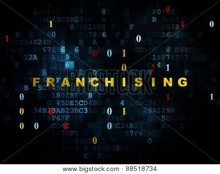 Finance concept: Franchising on Digital background