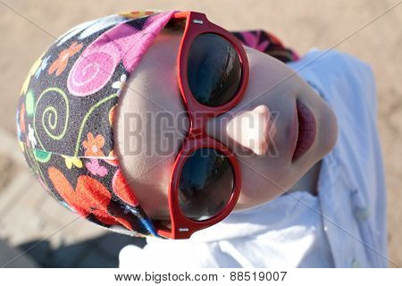 Young Funny Girl In Sunglasses