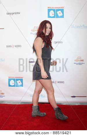 LOS ANGELES - FEB 19:  Jillian Rose Reed at the Milk+Bookies Sixth Annual Story Time Celebration at the Toyota Grand Prix Racecourse on April 19, 2015 in Long Beach, CA