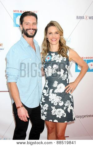LOS ANGELES - FEB 19:  Jason Behr, KaDee Strickland at the Milk+Bookies Sixth Annual Story Time Celebration at the Toyota Grand Prix Racecourse on April 19, 2015 in Long Beach, CA