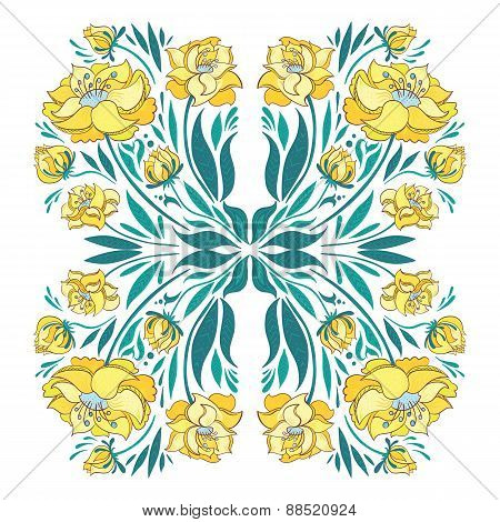 Floral Vector Vignette