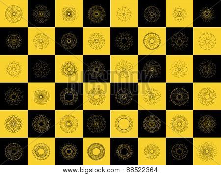vector modern black and yellow geometric shape