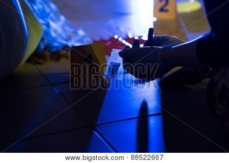 Forensic Scientist Preventing Evidence