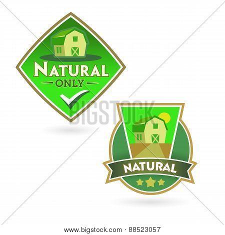 Set Of Organic-eco-bio-natural Labels