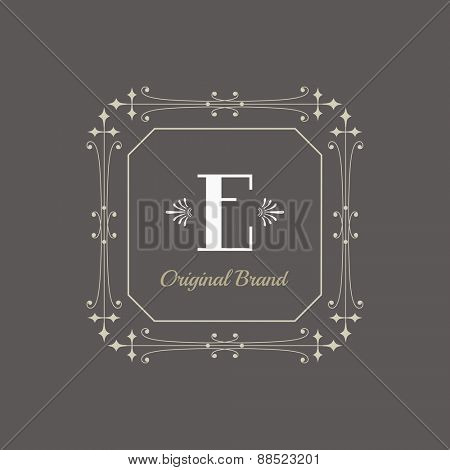 Vintage Frame - for Monogram or Calligraphic Design - in vector