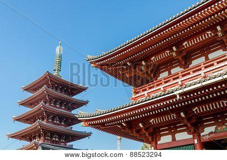 Asakusa Kannon Temple (also Called Sensoji), The Oldest Temple In Tokyo