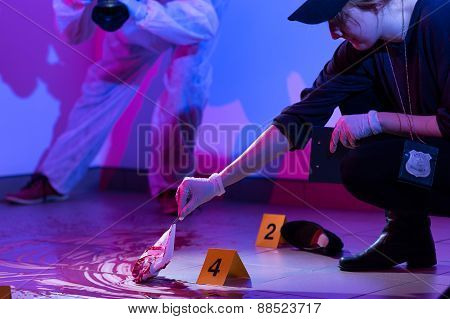 Working On A Murder Scene
